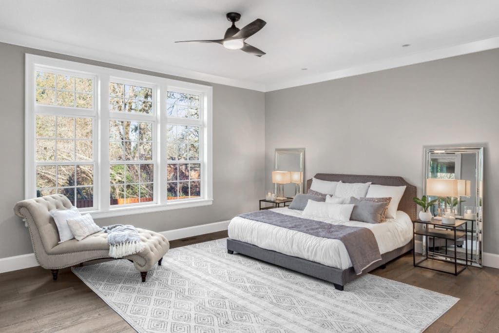 Bedroom in new luxury home